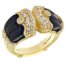 Judith Ripka Black Onyx and Diamonique® Ring
