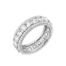 Judith Ripka Cushion-Cut Diamonique® Eternity Band Ring