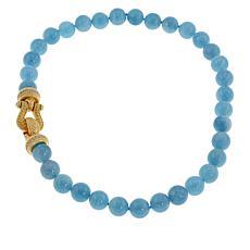 Judith Ripka Milky Blue Aquamarine Bead Necklace