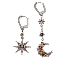 Judith Ripka Moon and Star Multi-Gemstone Drop Earrings