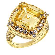 Judith Ripka Sterling Silver Canary Diamonique® Ring