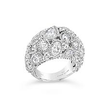 Judith Ripka Sterling Silver Diamonique Dome Cocktail Ring