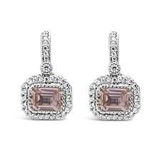 Judith Ripka Sterling Simulated Morganite and Diamonique® Earrings