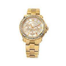 Juicy Couture Goldtone Crystal Bezel 3-Subdial Watch