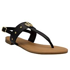 Juicy Couture Zing Embellished Thong Sandal