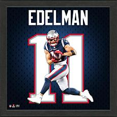 Julian Edelman Impact Jersey Framed Photo