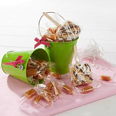 JulieAnn Caramels Set of 2 Green Easter Pails - Receive by April 19