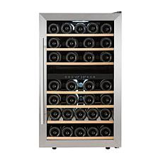 Kalorik 43-Bottle Dual-Zone Compressor Wine Cellar - Stainless Steel