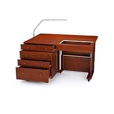 Kangaroo Sewing Cabinet w/ Joey II 3-Drawer Cabinet & Slimline 3 Lamp