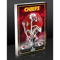 Kansas City Chiefs Super Bowl LIV Champions 3D Acrylic Block