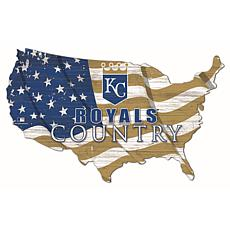 Kansas City Royals USA Shape Flag Cutout
