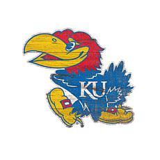 Kansas  Distressed Logo Cutout Sign