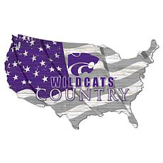 Kansas State University USA Shape Flag Cutout