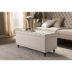 Kaylee Fabric Upholstered Button-Tufting Storage Ottoman Bench