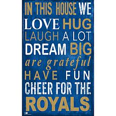 KC Royals In This House Sign