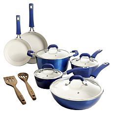 Kenmore Arlington 12pc Aluminum Nonstick Cookware Set  - Blue