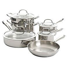 Kenmore Elite Devon 10-Piece Heavy Gauge Stainless Steel Cookware Set