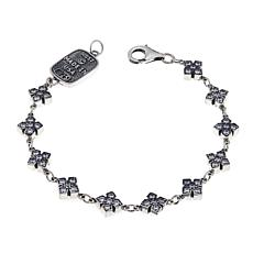 King Baby Jewelry 1.65ctw CZ Small Cross  Bracelet