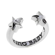King Baby Sterling Silver Open Star Ring