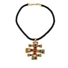 "KJL by Kenneth Jay Lane ""Byzantine Beauty"" 18"" Drop Necklace"