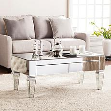 Knightly Contemporary Mirrored Rectangular Cocktail Table