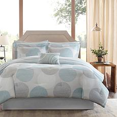 Knowles Queen 9-piece Complete Bed and Sheet Set - Aqua