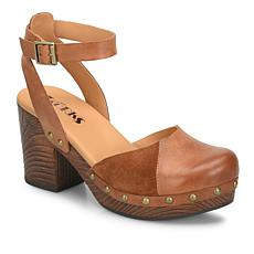 Korks Meru Leather and Suede Retro Inspired Clog