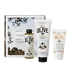 Korres 3pc Pure Olive Firm & Smooth Sea Salt Set
