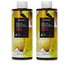 Korres Ginger Lime Shower Gel Duo