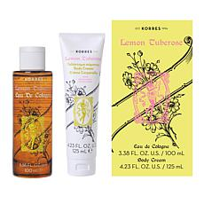 Korres Lemon Tuberose Body Spray and Body Cream Set