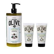 Korres Olive & Sea Salt Bath & Body 3-piece Set