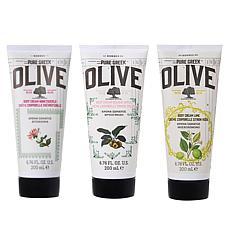 Korres Olive Oil Body Cream 3-piece Set