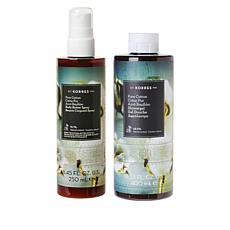 Korres Pure Cotton Body Butter Spray and Shower Gel Set