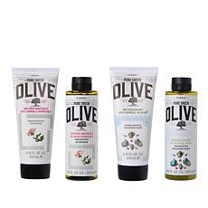 Korres Pure Greek Olive Oil  Sea Salt & Honeysuckle 4pc Collection