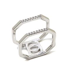 "Kristin Chenoweth ""Throwback"" CZ Octagonal Ring"