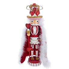 "Kurt Adler 18"" King of Hearts Nutcracker"