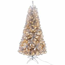 Kurt Adler 7' Pre-lit Silver Point Pine Christmas Tree