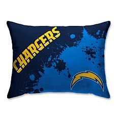 "LA Chargers Splatter Print Plush 20x26"" Bed Pillow"