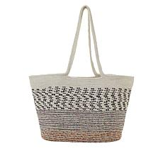 La Regale Multicolored Woven Tote Bag
