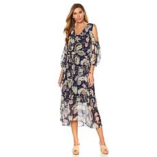 LaBellum by Hillary Scott Cold-Shoulder Maxi Dress