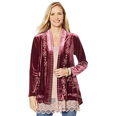 LaBellum by Hillary Scott Embossed Velvet Topper