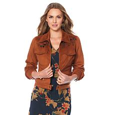 LaBellum by Hillary Scott Faux Suede Jacket