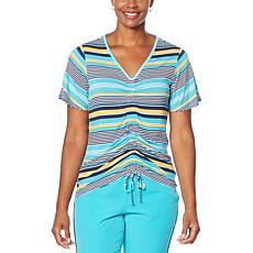 Laila Ali Adjustable Front Short-Sleeve Top