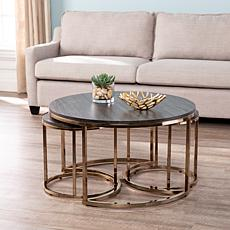 Lakenheath 3-Piece Nesting Cocktail Table Set - Champagne