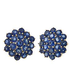 Lance Fischer 5.61ctw Laos Sapphire 14K Stud Earrings