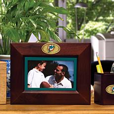Landscape Brown Picture Frame - Miami Dolphins - NFL