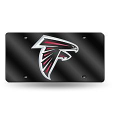 Laser-Engraved Black License Plate - Atlanta Falcons
