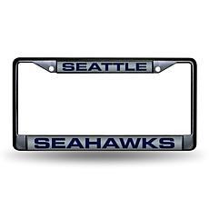 Laser-Engraved Black License Plate - Seattle Seahawks