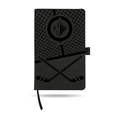 Laser-Engraved Black Notepad with Elastic Band - Jets