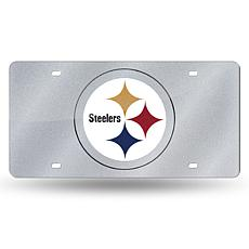 Laser-Engraved Bling License Plate- Pittsburgh Steelers